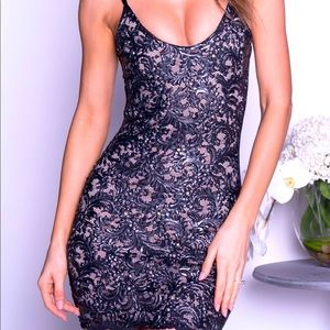 Sofia Lace Dress in Black